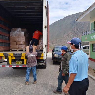 Antamina entrega paquetes básicos de víveres para 20,000 familias