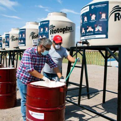 Coronavirus: Southern Peru instala lavamanos portátiles y tanques de agua en Ilo